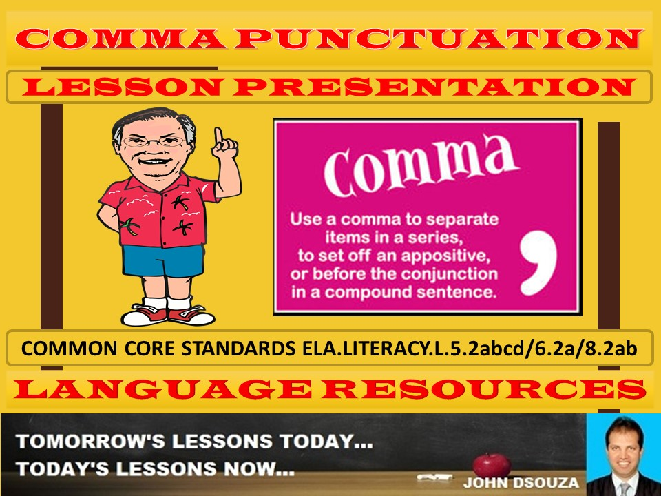 COMMAS LESSON PRESENTATION