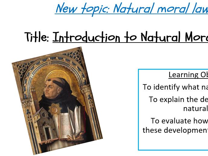 Natural moral law - full topic