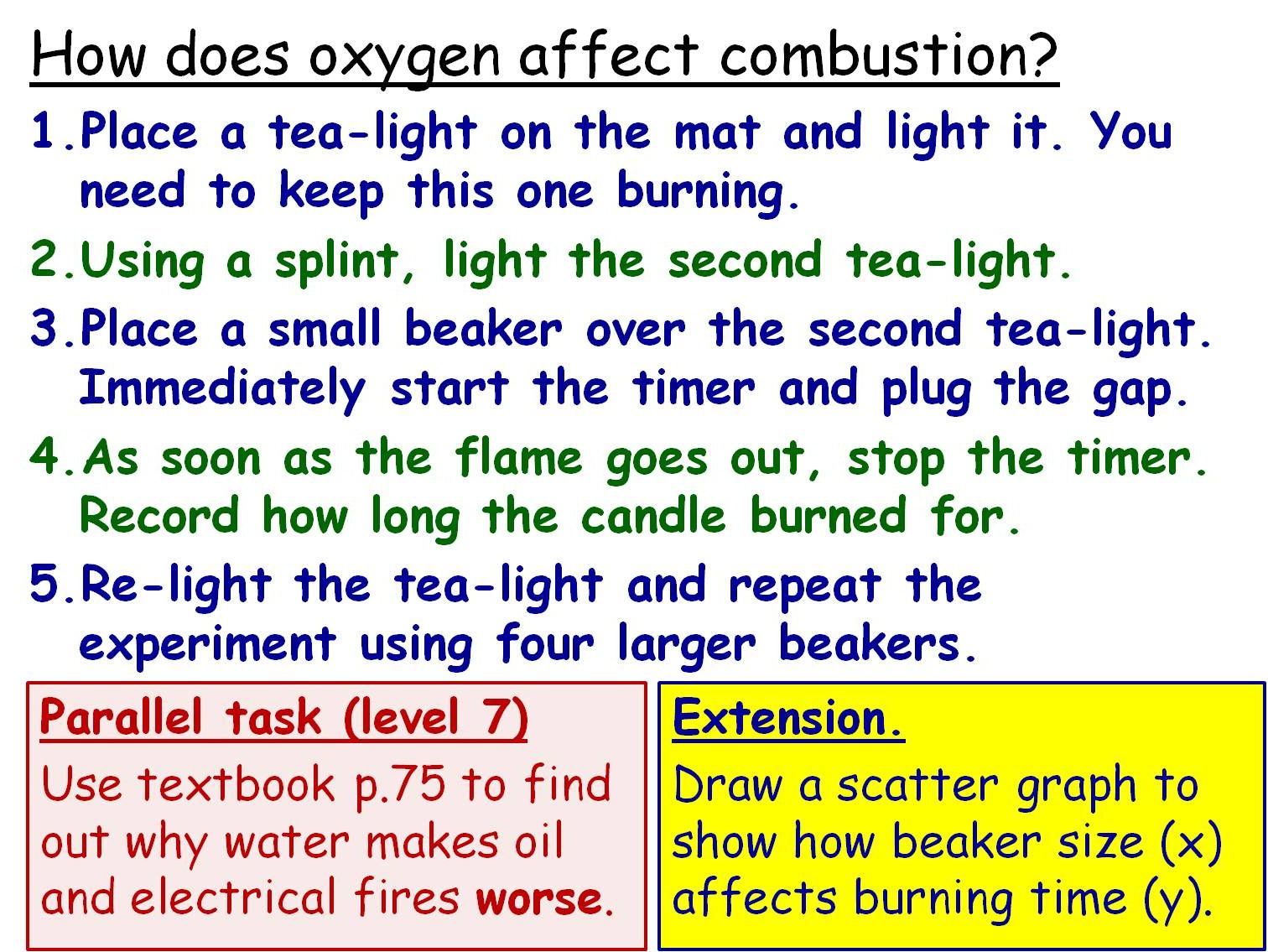Combustion Year 8 Topic- 5 full lessons (KS3 8E)