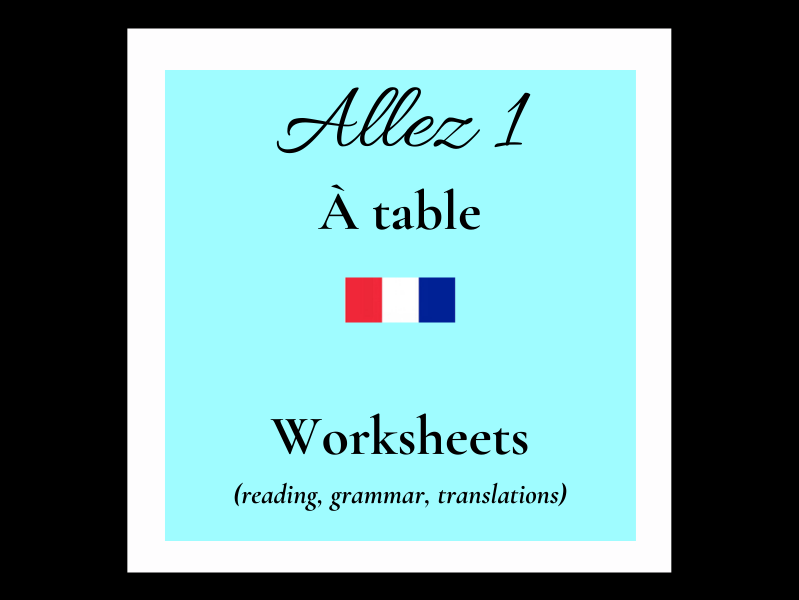 KS3 - French Allez 1 A table (4.1 -4.2 -4.3)