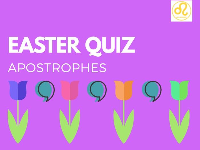 Easter Quiz Apostrophes