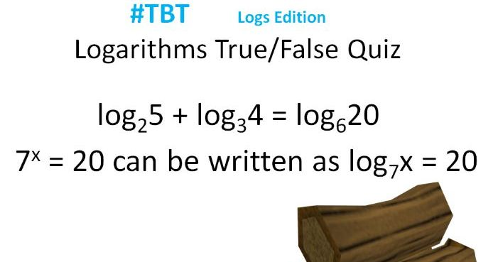 A-Level Maths Logs True/False Quiz