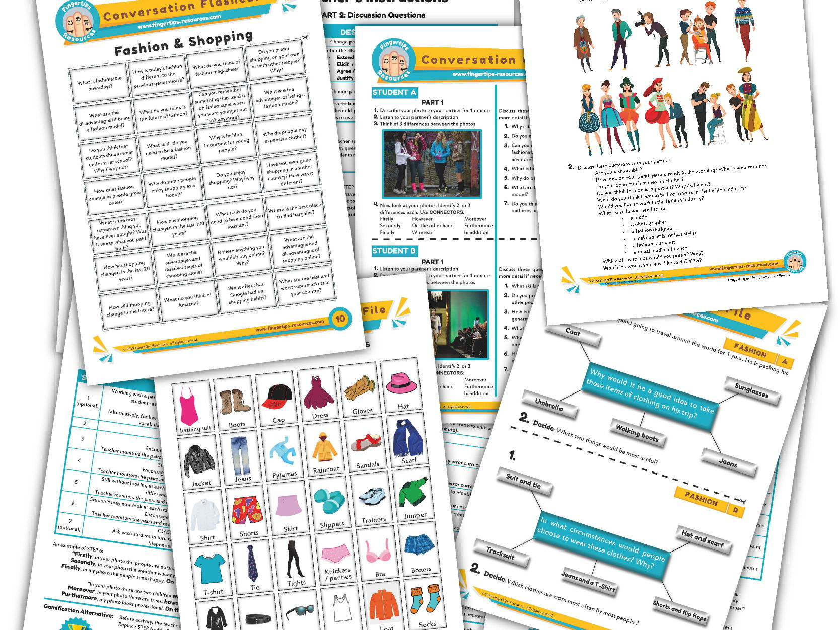 Fashion & Clothes Unit - ESL Activity Bundle