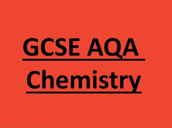 AQA GCSE Chemistry: Atomic structure Knowledge booklet