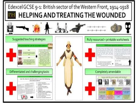 British sector of the Western Front - Helping and treating the wounded