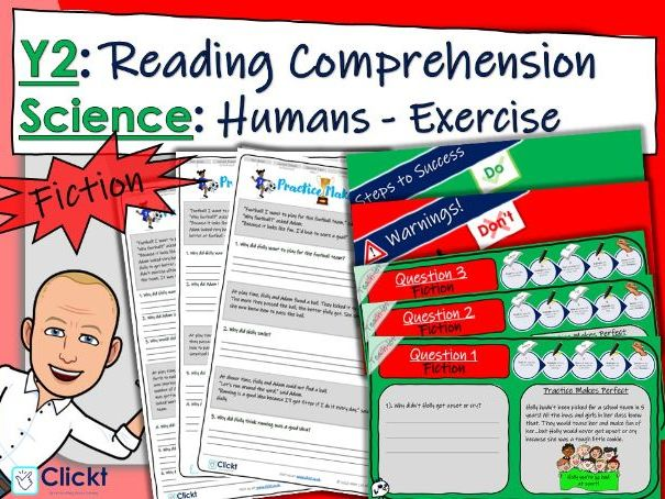 Year 2 Reading Comprehension (FICTION): Science: Animals, including humans: Exercise