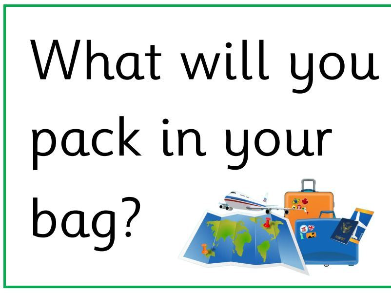 EYFS Airport/Travel Agents Role Play - Question posters - Reading opportunity