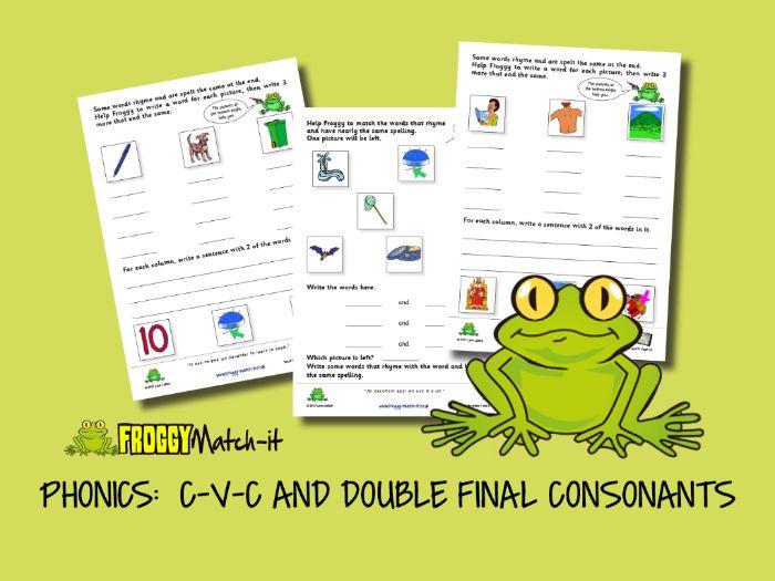 PHONICS: C-V-C AND DOUBLE FINAL CONSONANTS