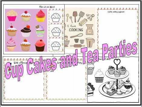 Cup Cakes and Tea Parties Topic Work