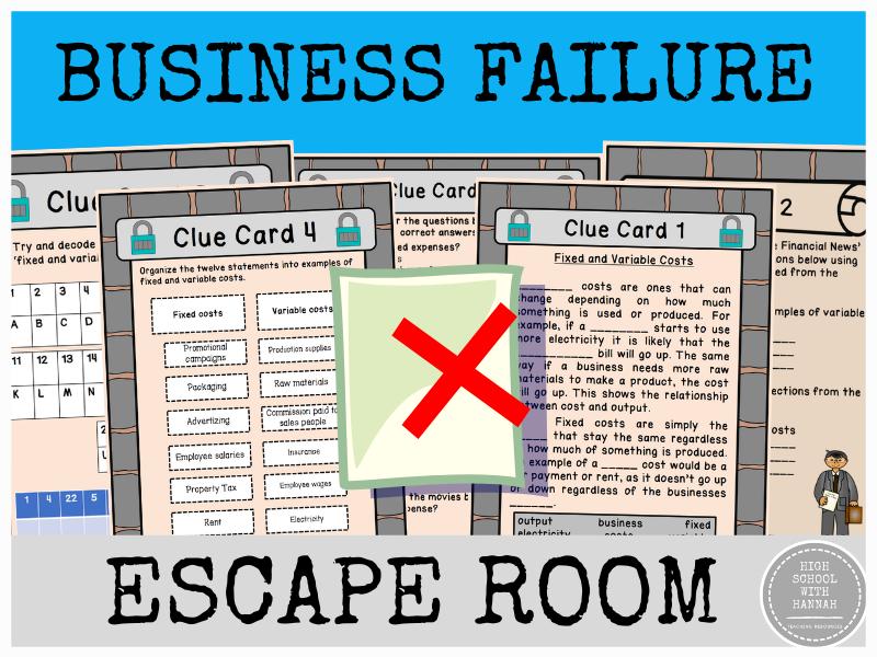 Business Failure - Escape Room