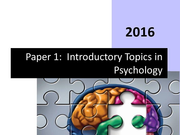 Complete Student Workbook Paper 1 - Introductory Topics in Psychology