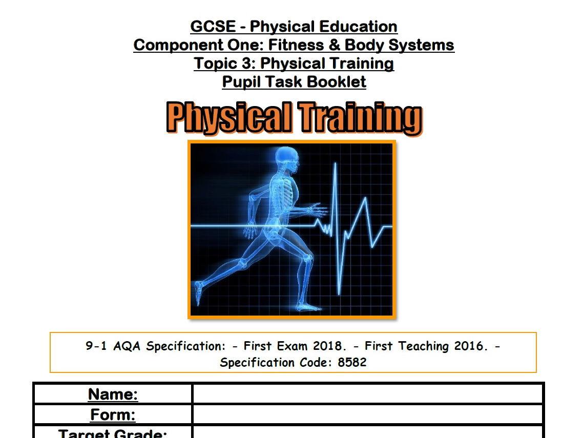 AQA 9-1 GCSE PE - Physical Training Bundle