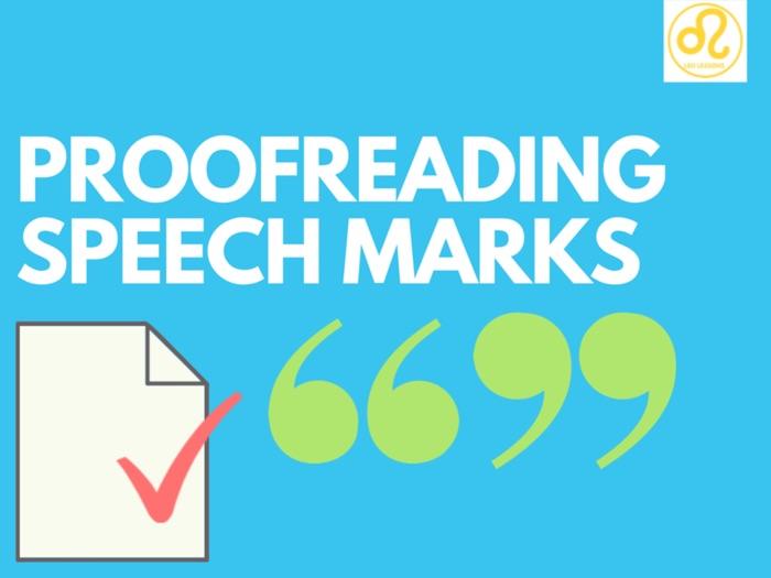 Proofreading speech marks