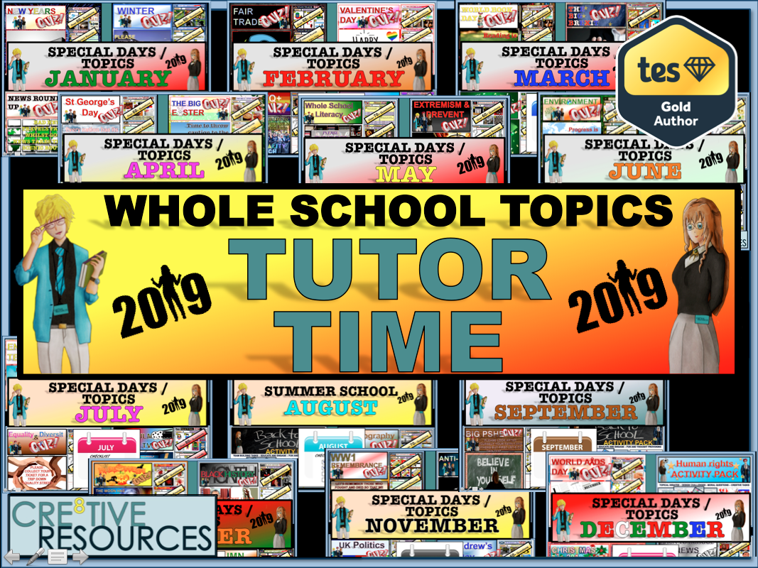 New Year Tutor Time 2019 - 2020 Bundle
