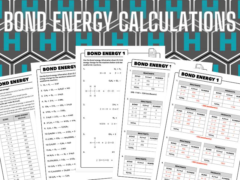 5.3 Bond Energy Calculations, AQA Chemistry