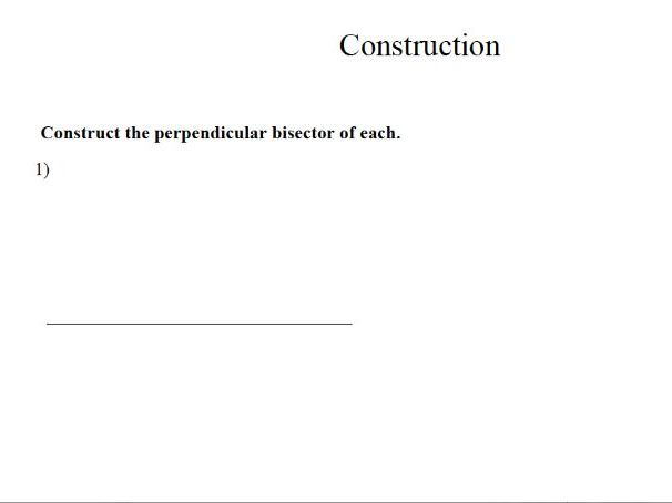 GCSE Maths Revision Worksheet Construction
