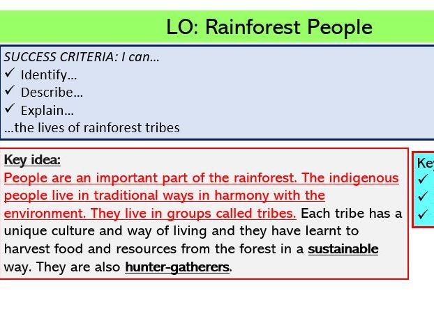 L4. Rainforest People