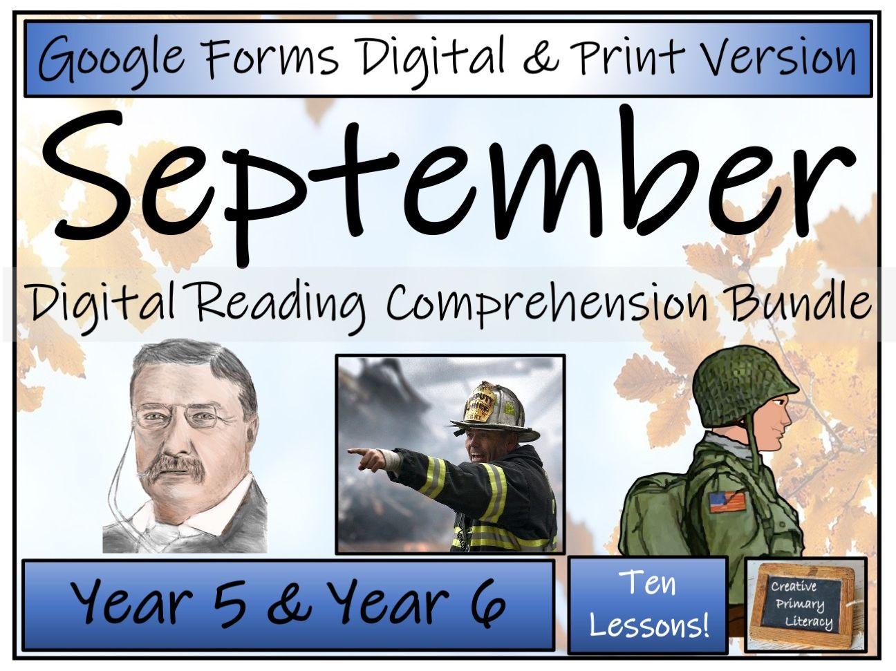 UKS2 Ten September Reading Comprehensions | Digital & Print