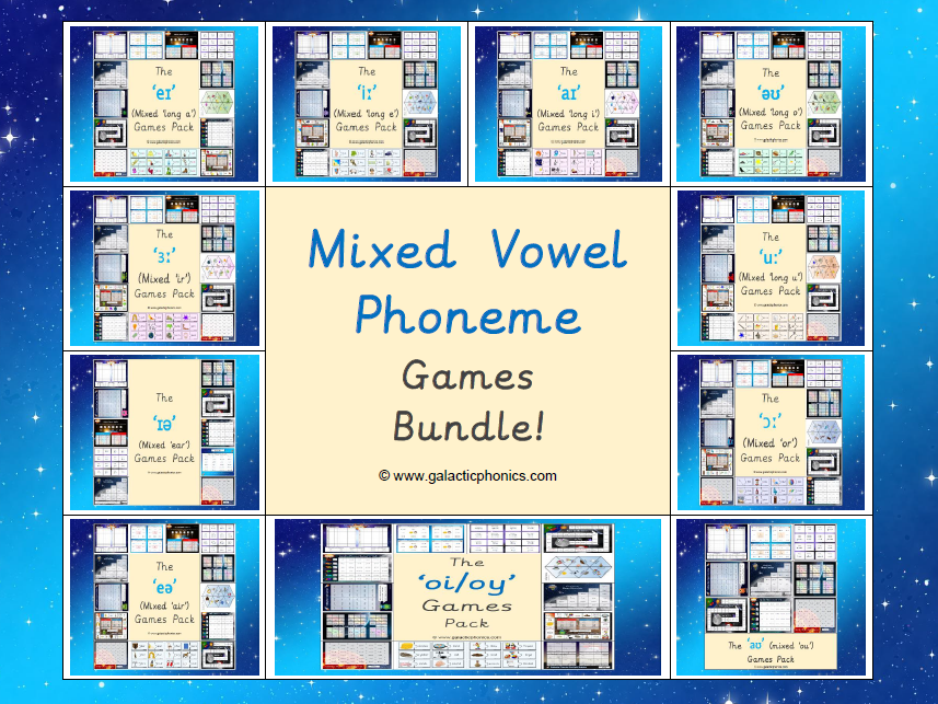 The Mixed Vowel Phoneme Games Bundle