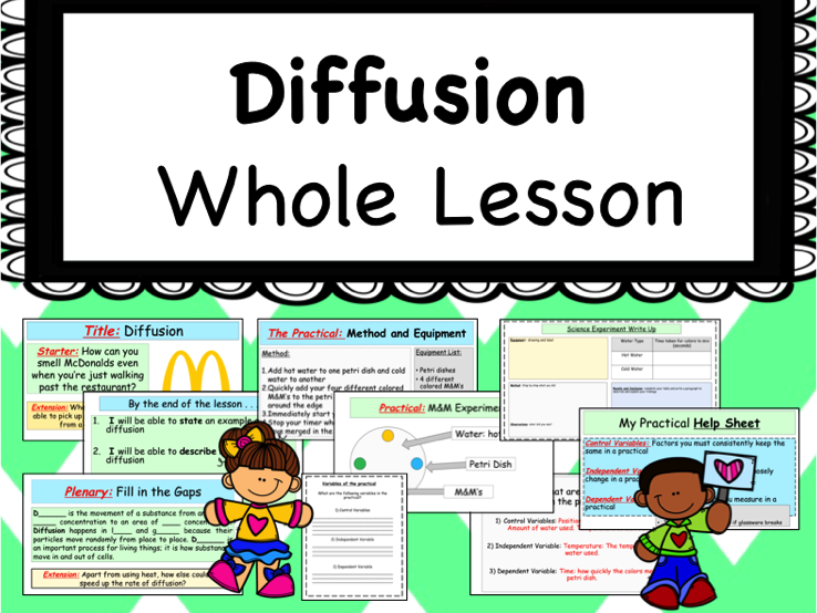 Diffusion Lesson with Worksheets
