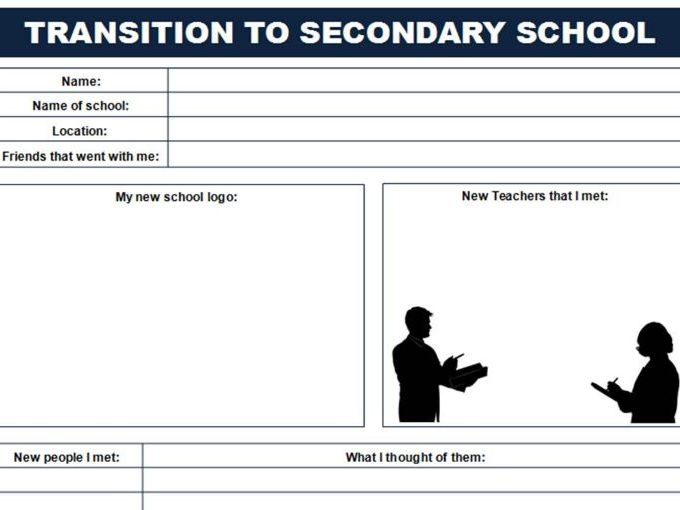 Year 6 - Transition to Secondary School worksheet with Scenario Discussion Cards