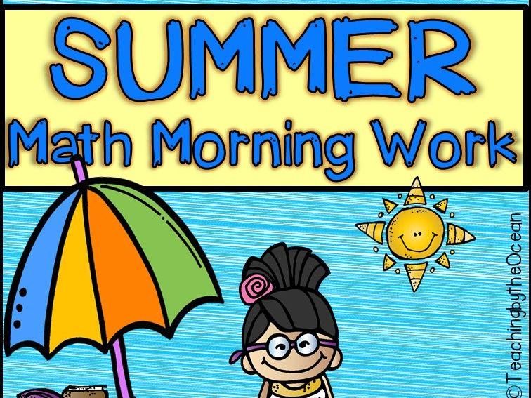 Summer First Grade Math Morning Work