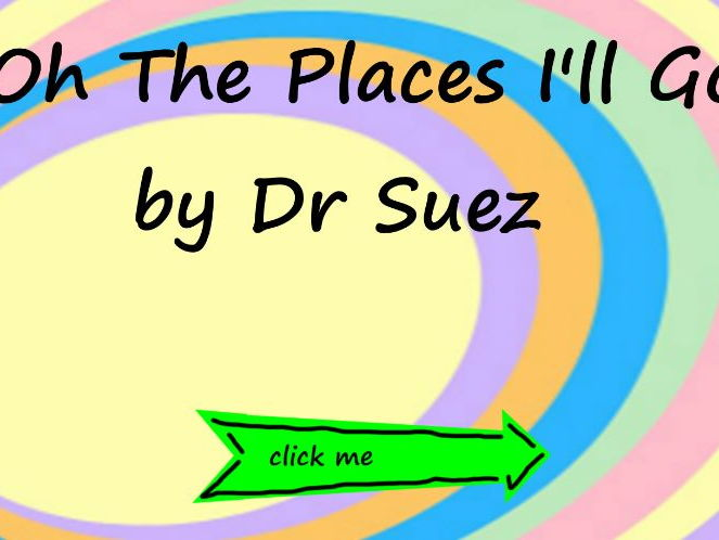 Oh the Places You'll Go lesson plan and writing frames