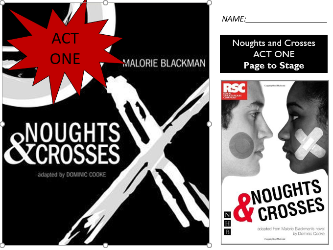 GCSE Drama Home Learning - Act One Noughts and Crosses