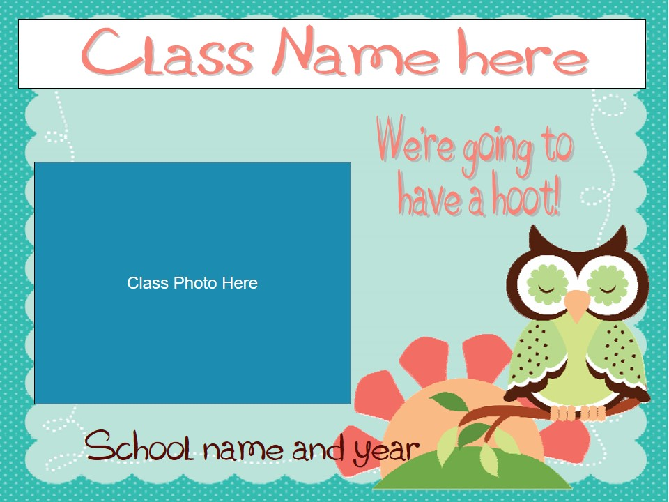 Back to SchMeet The Teacher/Open House Slideshow - Pink and Green Owl Theme (suitable for UK and US)
