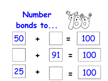 Tarsia - Number Bonds to 100