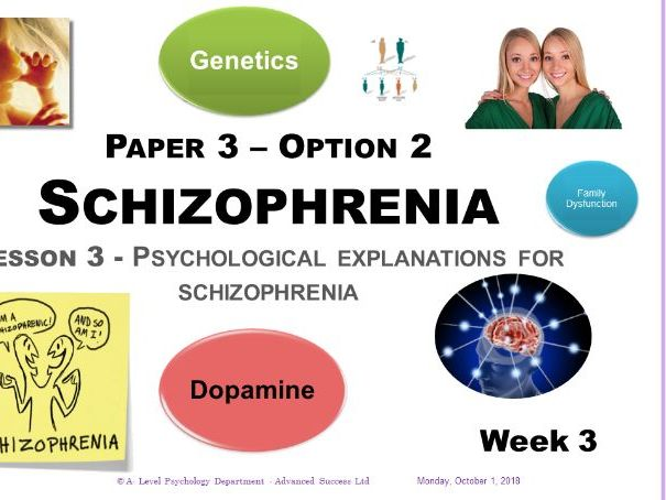Powerpoint - Schizophrenia - Week 3 Psychological explanations of Schizophrenia