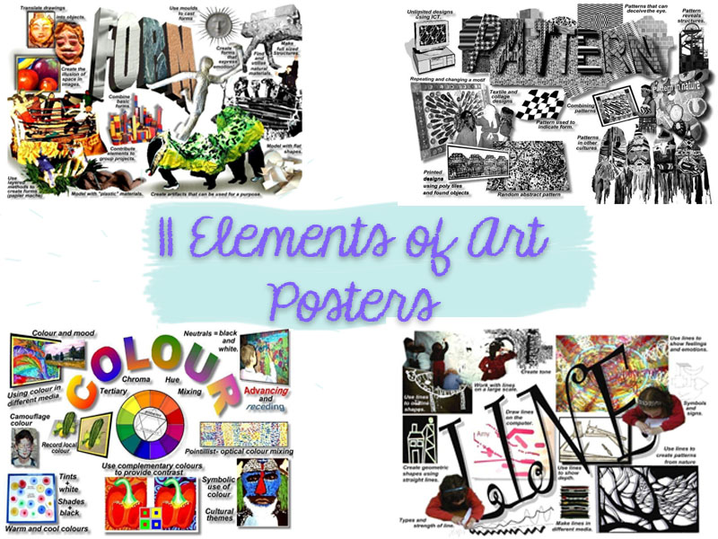11 Elements of Art Posters (A4 size)
