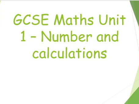 Maths GCSE Unit 1 - Number theory