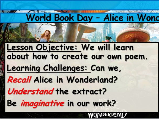World Book Day - Alice in Wonderland