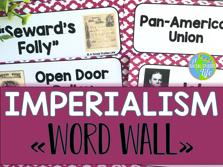 Imperialism Word Wall without definitions