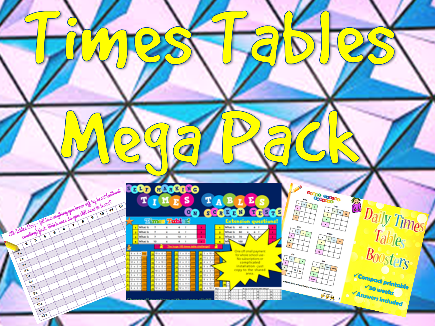 Times Tables Mega Pack