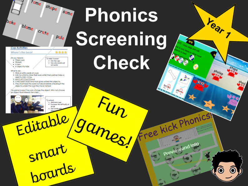 Phonics games for Year 1 Phonics Screening check