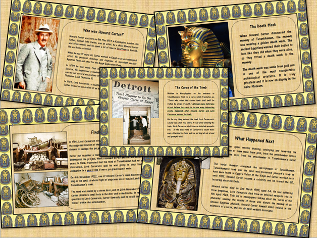Howard Carter Tutankhamen Information Poster Display Set
