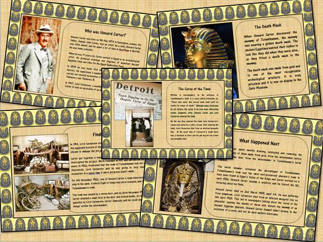 Howard Carter Tutankhamen Information Poster Display Set