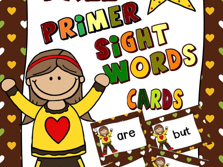 Primer Sight Words Cards - Autumn Themed
