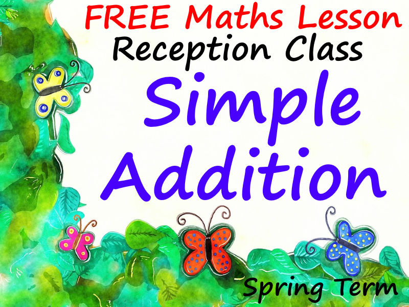 FREE Maths Reception PowerPoint Lesson - Simple Addition  - Spring Term
