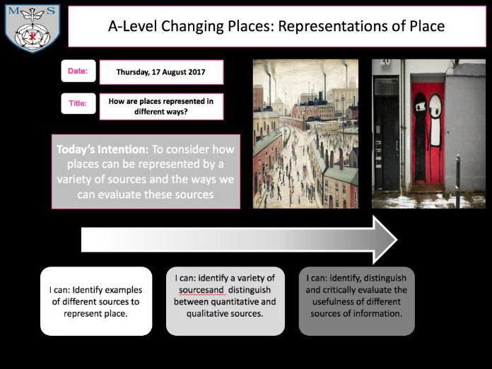 Changing Places Lesson 6 - Representations of Place