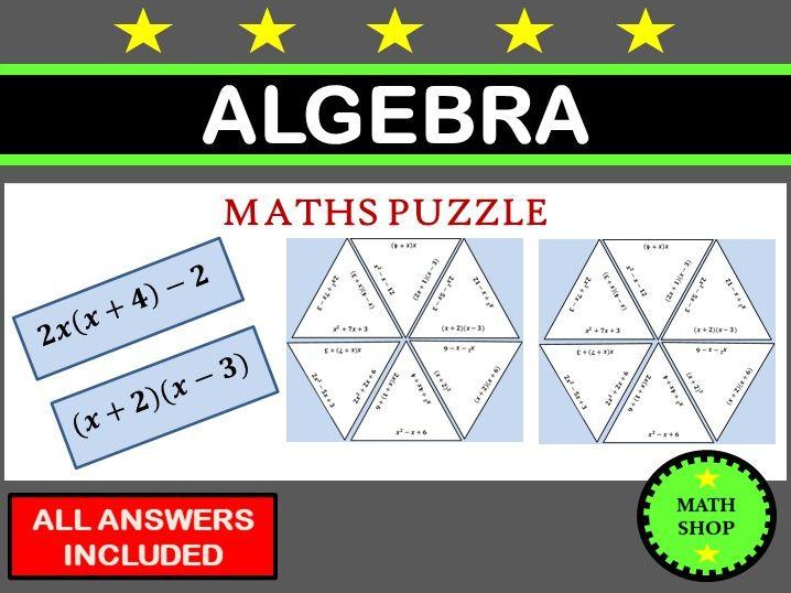 Expanding Brackets Algebra Puzzle