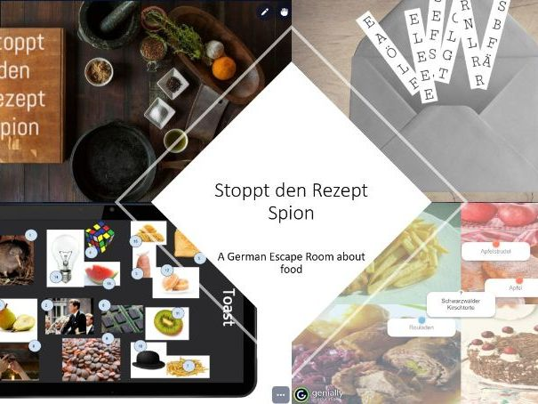 German food escape room - Find the recipe spy