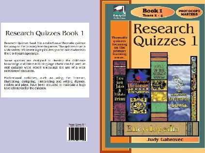 Research Quizzes Book 1 - Thematic quizzes focusing on the primary learning areas - For years 2-4