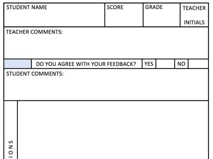 Homework feedback form
