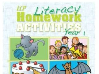 Year 1 Literacy/English  Home Learning Pack includes Parental Guidance