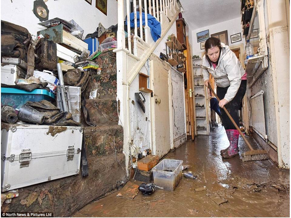 UK floods-  Causes of flooding - 2020