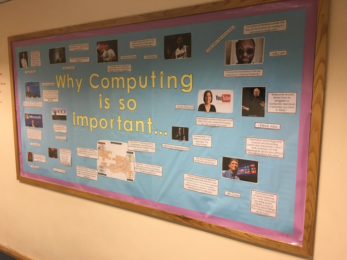 Why Computing is Important - Large Wall Display