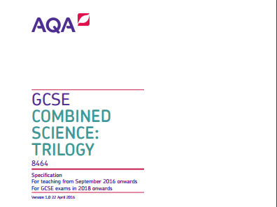 AQA combined science flashcards